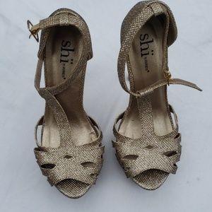 Shi glitter heels women's size 6